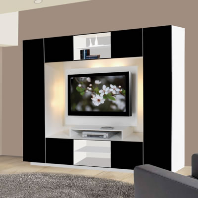 Wall units for televisions and storage. ICON FURNITURE COLLECTION   Innovation Through Integration