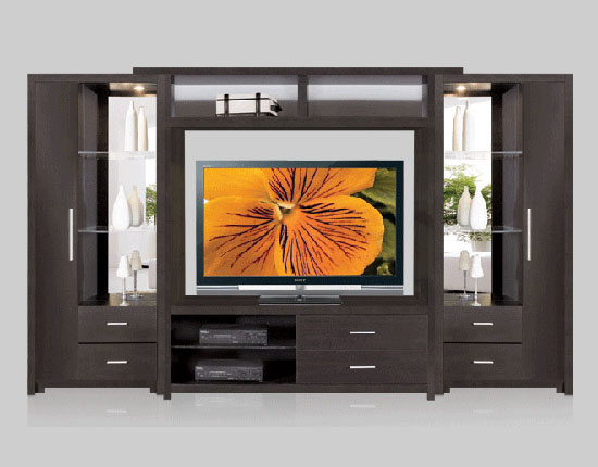Crystal Wall Unit for Table Top TV