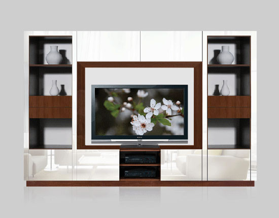 Leonardo Wall Unit for Table Top TV