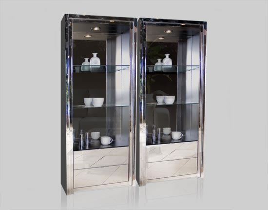 Millenia Mirrored Curio - Harrison Bookcase ICON FURNITURE COLLECTION