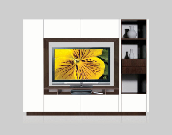 Bruno Wall Unit for Table Top TV