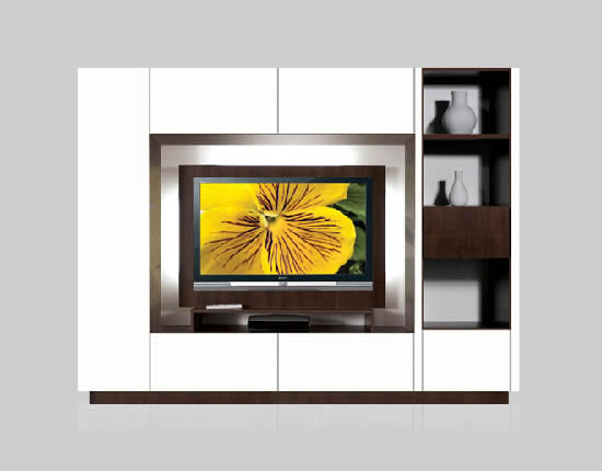 Bruno Wall Unit for Thin Panel Mounted TV